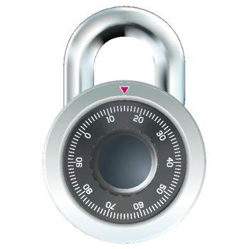 Photorealistic combination lock vector