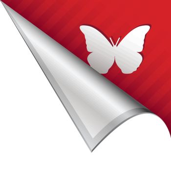 Butterfly corner tab