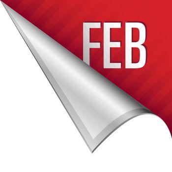 February corner tab