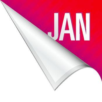 January corner tab