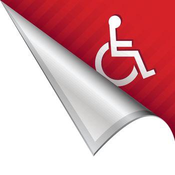 Wheelchair corner tab