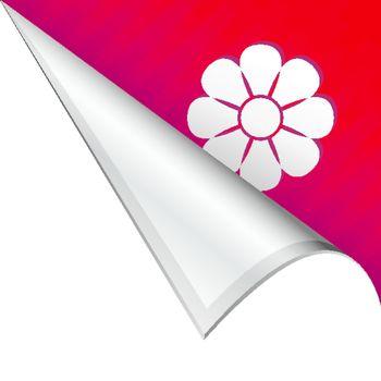 Flower corner tab