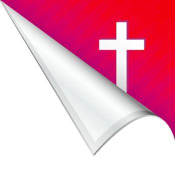 Christian cross corner tab