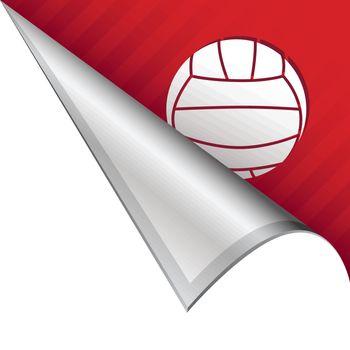 Volleyball corner tab