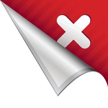 X corner tab