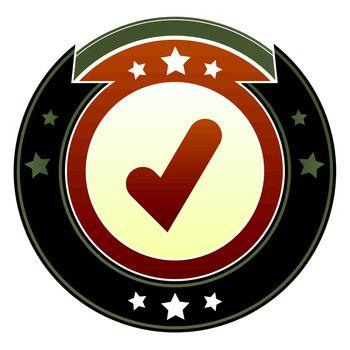 Check mark imperial button