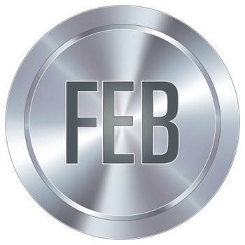 February industrial button