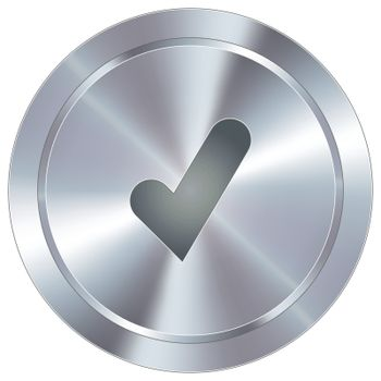 Check mark industrial button