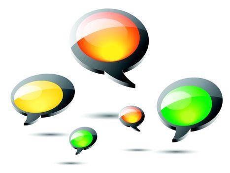 Speech Bubble round shape on white background
