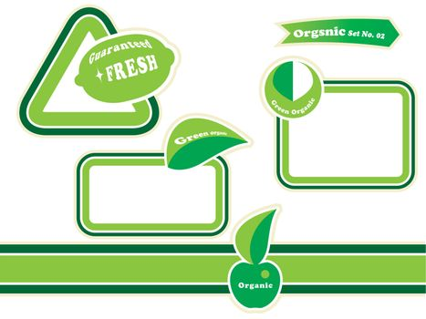 organic label tag set