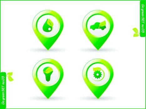 environment symbol icon set