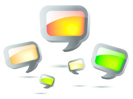 Speech Bubble square shape on white background