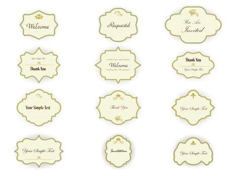 vintage invitation tag set
