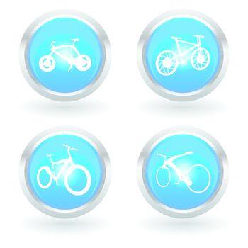 modern bike icon set on white background