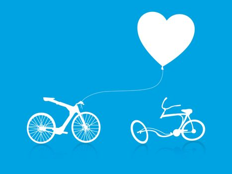 love modern bike background
