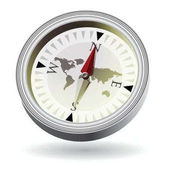 Isolated compass on white background