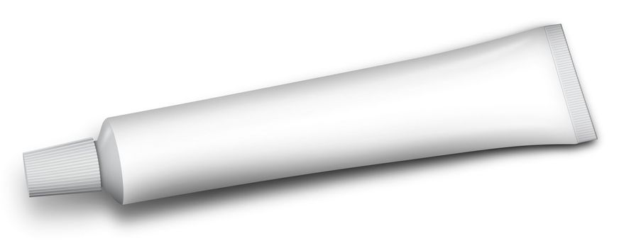 white tube of toothpaste and other paste