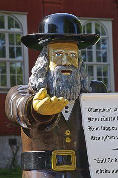 Swedish folklore - Statue of Rosenbom