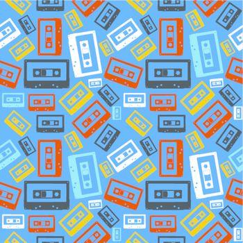 Old audio cassette pattern