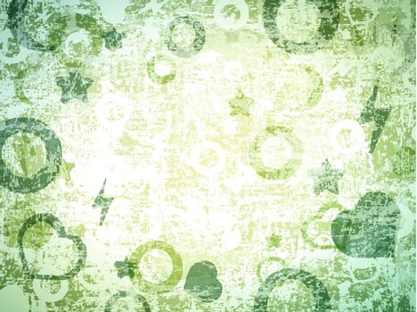 abstract different shapes grunge background