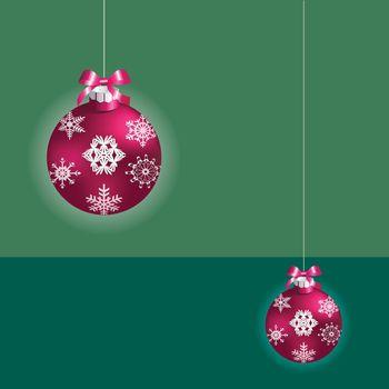 Christmas ball ornaments Christmas card greeting