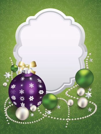 Beautiful christmas background with place for text. Vector illustration