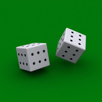 Dice with all sides sixes
