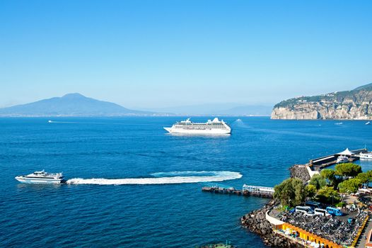 Gulf of Naples with Cruiser Liner