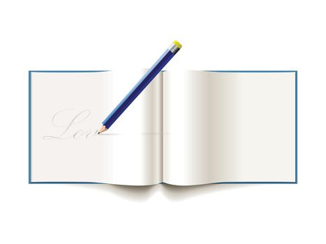 pencil love note notebook