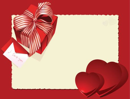 valentine Card Heart and gift box