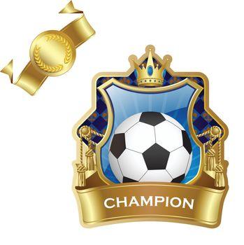 Emblem of sport champion soccer