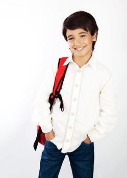 Nice smiling school boy