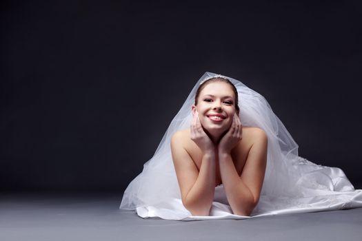 Cheerful bride