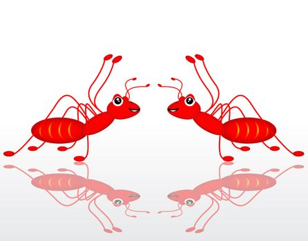 dual red ant