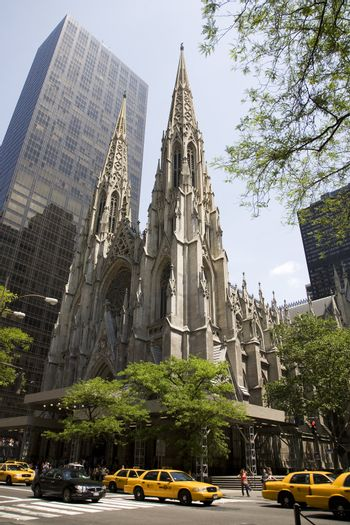 Saint Patrick's cathedral in New York.