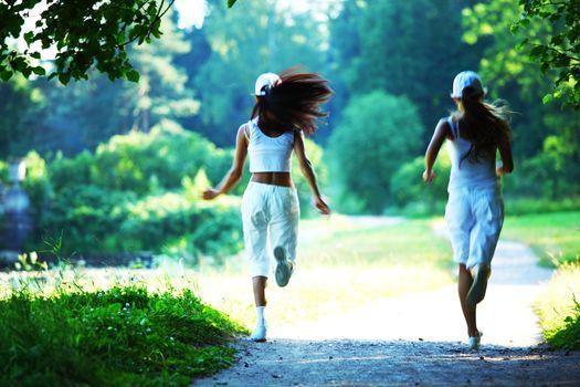 women run