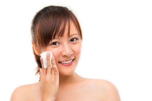 Removing face makeup