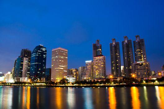 Bangkok in twilight