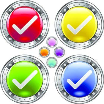 Check mark colorful button