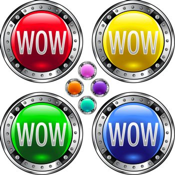 Wow colorful button