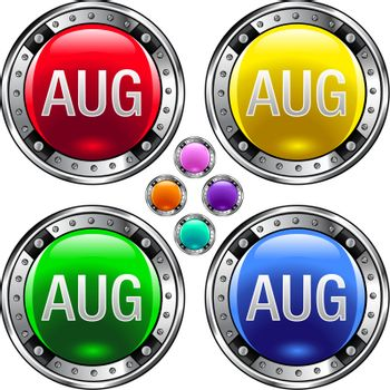 August colorful button