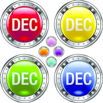 December colorful button