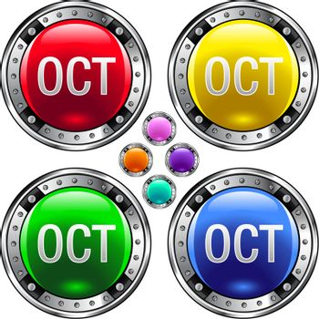 October colorful button