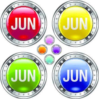 June colorful button