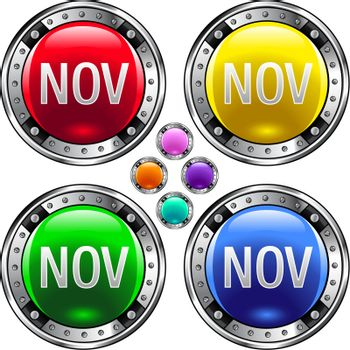 November colorful button