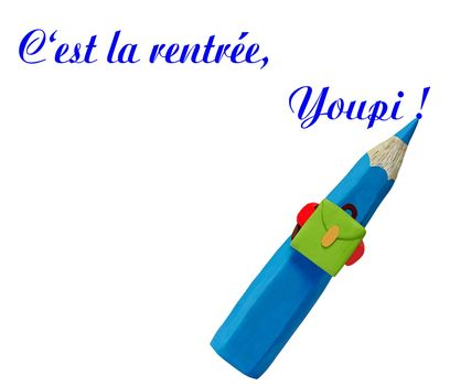 a pen writing a text: it s back to school