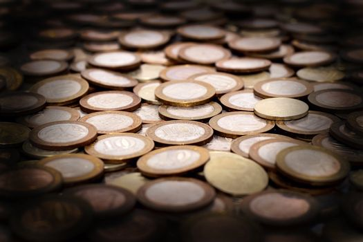 scattering of coins as a background