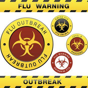 Swine flu caution signs