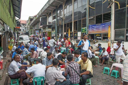 central market in yangon myanmar
