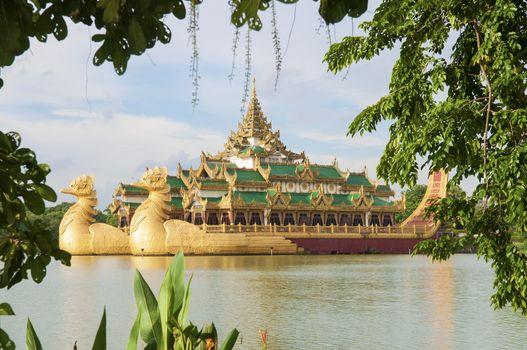 royal barge in yangon myanmar